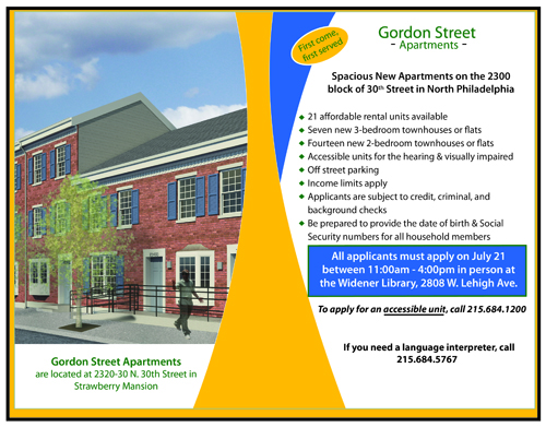 Gordon Street applications